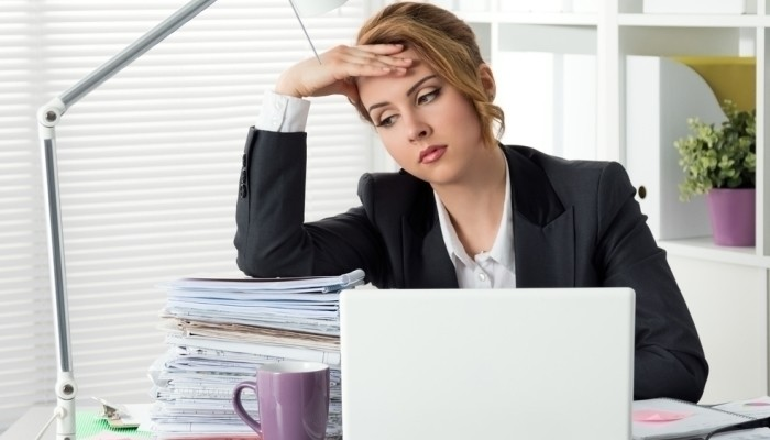woman frustrated with bad company culture