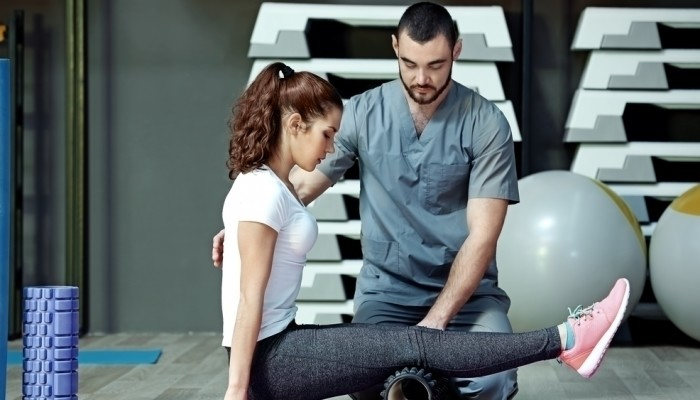 physiotherapist and attractice woman