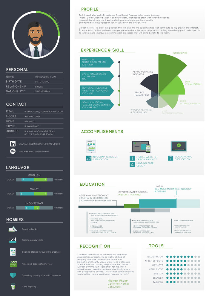 The 10 Best Infographic Resumes In The World