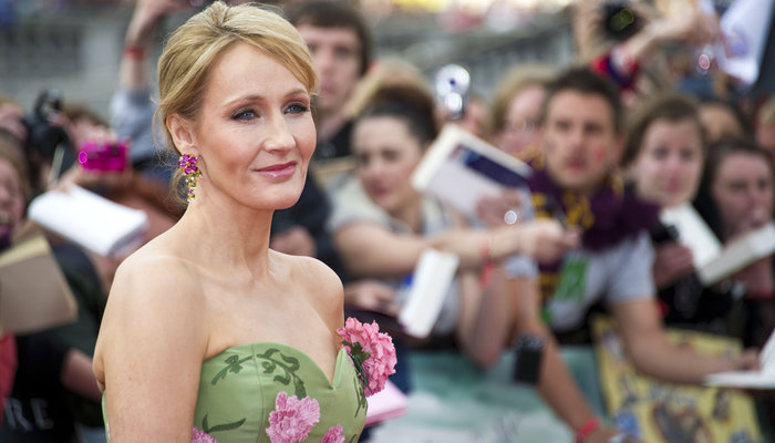 JK Rowling at the movie premiere of 'Harry Potter and the Deathly Hallows Part 2' in London