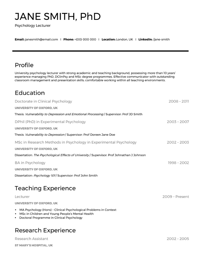 The 20 Best Cv Examples For Your Inspiration